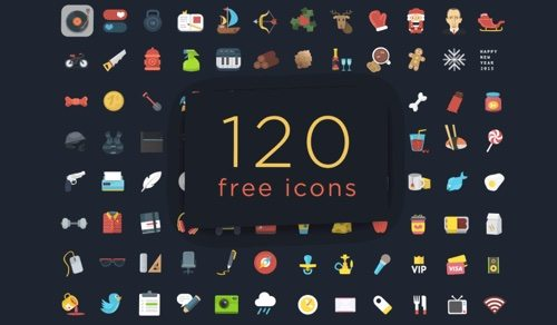 120+ Colorful Ficons Icons.