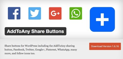 AddToAny Plugin on WordPress.
