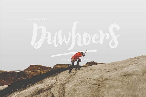 Duwhoers Brush Font.