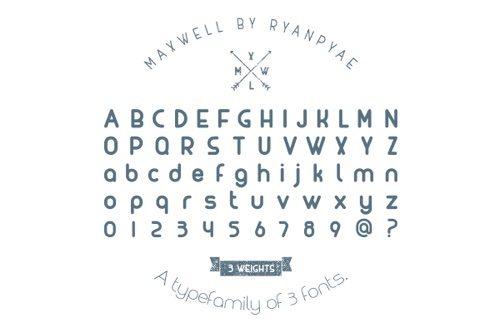 Maxwell Font.