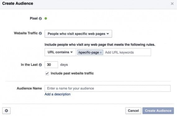 If you want to make sure you're making an audience just off of visitors that click on a Facebook ad, send them to a specific landing page, and then create another pixel that only targets visitors of that page.