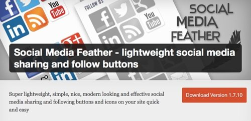 Social Media Feather Plugin on WordPress.
