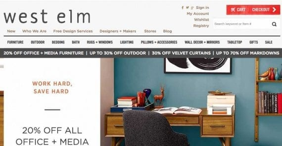 """A page's title shows up on search engine results pages and on social media posts, making it a powerful tool for attracting shoppers to your online store. The title for the home page of WestElm.com, a retailer of home furnishings, is: """"Modern Furniture, Home Decor & Home Accessories 