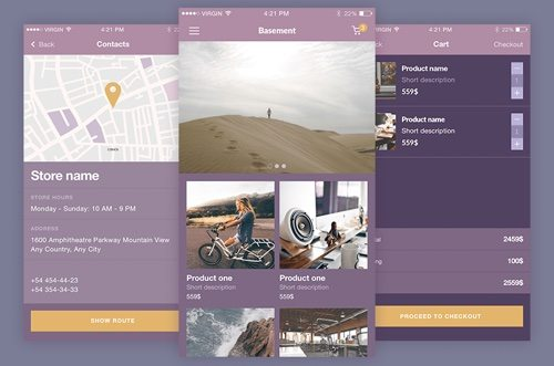iOS eCommerce UI Kit.