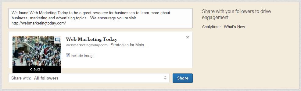 LinkedIn company page update.