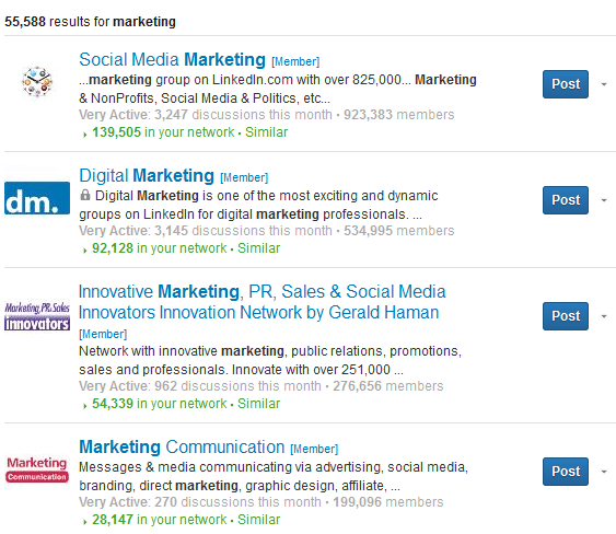 "Search results for ""marketing."""