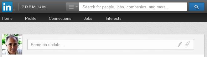"""LinkedIn """"Share an update."""""""