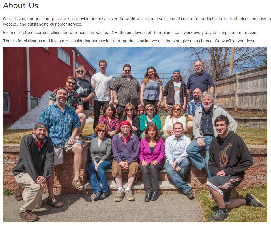RetroPlanet.com's full team.