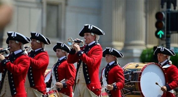 It would seem the Redcoats are coming in this July Fourth parade photo take by S. Pakhrin in Washington D.C. Independence Day offers content marketers opportunities to produce content around the holiday's history and activities.