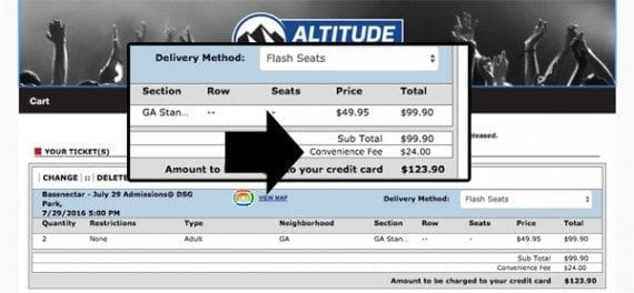 "Ticket sellers often include ""convenience"" or ""processing"" fees that unexpectedly drive up costs."