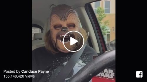 Mom's viral video on Facebook.