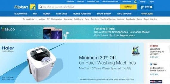Online marketplaces, such as Flipkart, are popular in India, as are Snapdeal and Amazon.