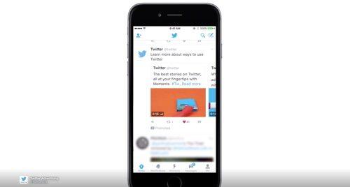 Twitter Promoted Tweet Carousel.