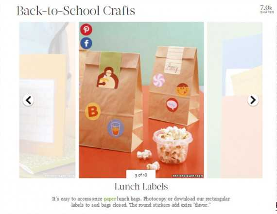 The Martha Stewart sites includes a round-up of back-to-school crafts.
