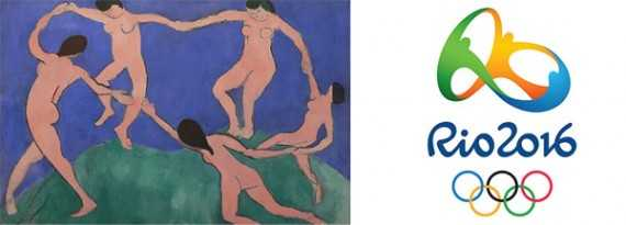 Did Henri Matisse's the Dance Influence the Rio 2016 Logo? Maybe. An online retailer selling anything from art supplies to art works might write an article or create a video that explored how the Olympic logo was created and what it represents.
