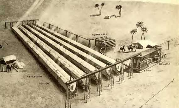 The world's first solar power station was built in Egypt between 1912 and 1913.