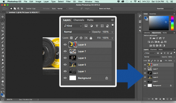 Each picture in the animation should be a layer in the Photoshop document.