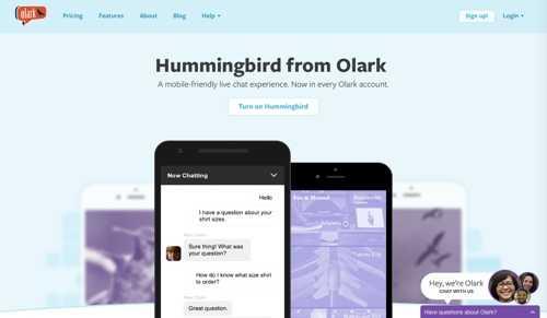 Hummingbird from Olark.