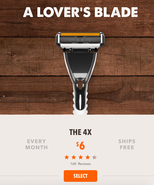 Dollar Shave Club is all about subscription.