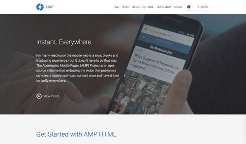 The Accelerated Mobile Pages (AMP) Project.