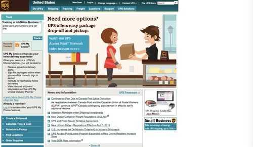 UPS.com.