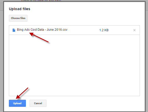 Select your .csv file and upload it.