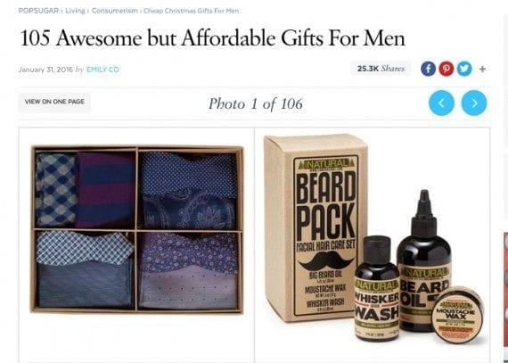 Popsugar, the media and shopping site, published its affordable Christmas gift guide way back in January.