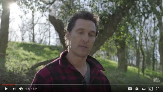 Actor Matthew McConaughey used video to tell a brand story for Wild Turkey Bourbon.