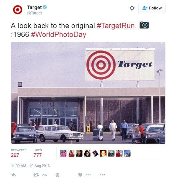 When a company tweets can impact the sort of engagement a tweet gets. This Target tweet was apparently timed well.