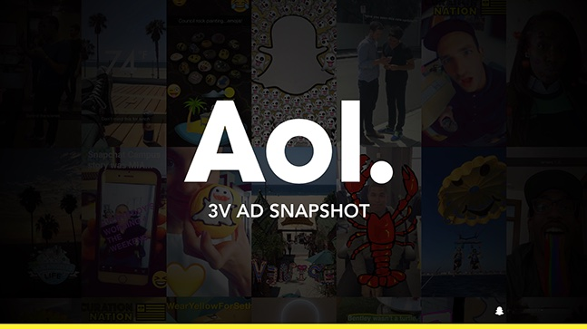 AOL Snapchat Campaign.