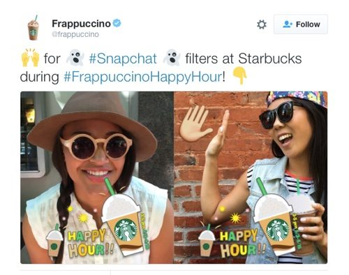 Frappuccino on Twitter.