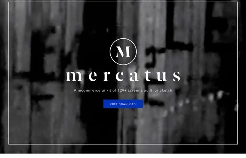 Kit d'interface utilisateur Mercatus Mobile eCommerce gratuit.