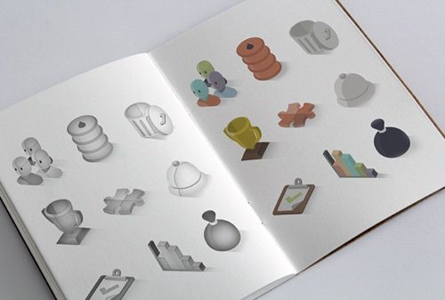 Isometric Icon Set.