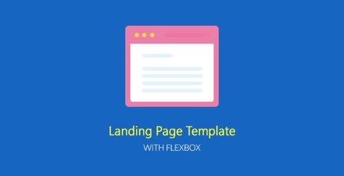 Modèle de page de destination avec flexbox.