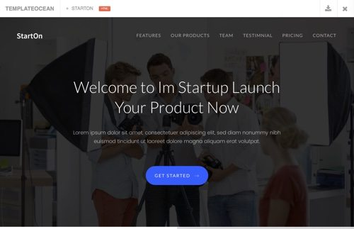 Start-Up Landing Page Template.