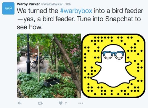 Warby Parker on Twitter.