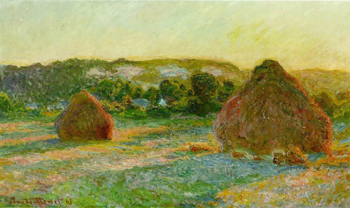 """Monet's """"Wheatstacks (End of Summer)."""" <em>Image: The Art Institute of Chicago.</em>"""