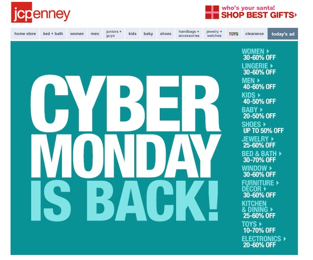 This email from JC Penney may not be engaging enough for subscribers to open or click