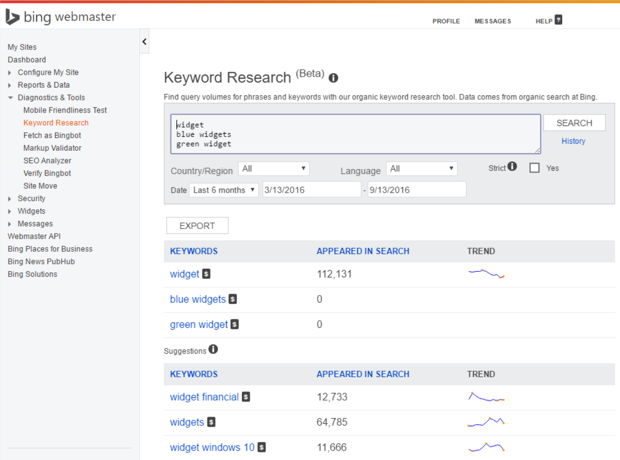Bing's Google Keyword Tool also offers free keyword data.