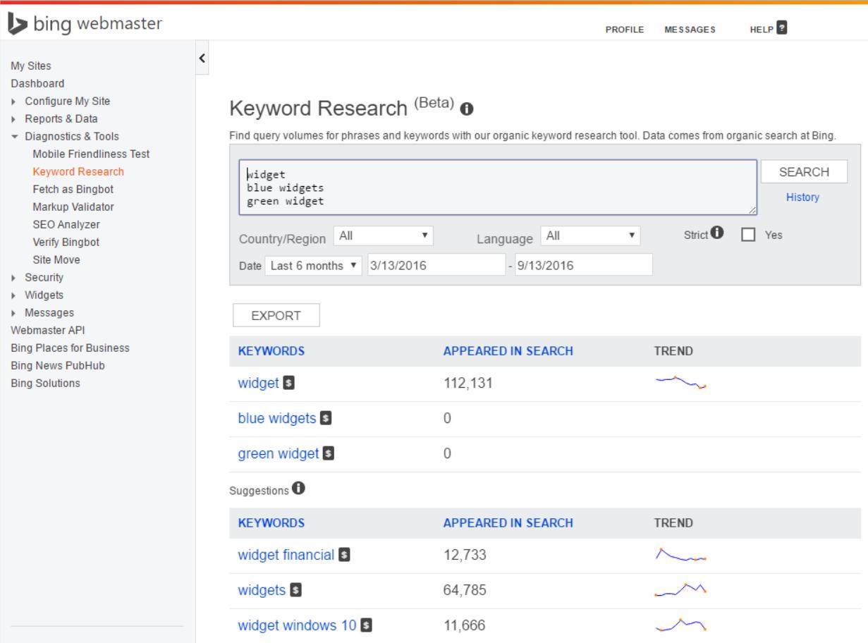 Bing's Google Keyword Tool also offers free keyword data.