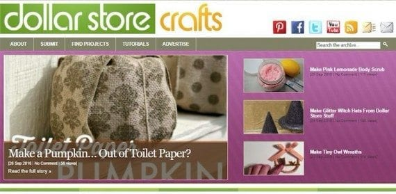 DollarStoreCrafts.com is a blog that provides tips and instruction on cheap and easy crafting projects. The site is an affiliate for merchants that sell craft products.