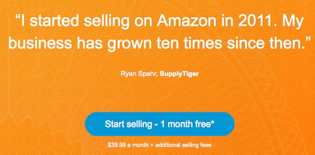 Amazon offers a free trial for those looking to start selling on its Marketplace.