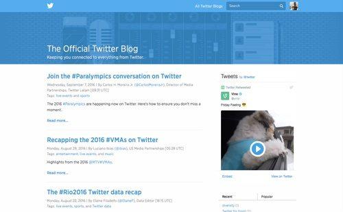 Twitter Blog.