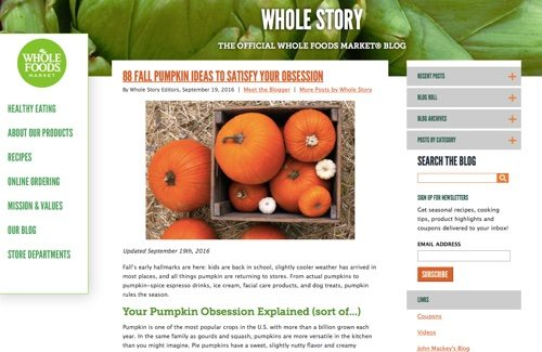 Whole Foods - Whole Story.