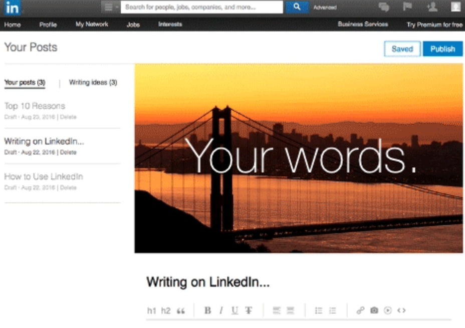 LinkedIn Posts allow you to address topics publicly instead of to your connections only.