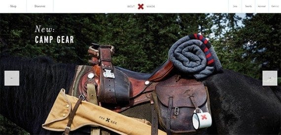 """This lifestyle image shows Best Made products in a """"real-life"""" situation. To get this shot, Best Made needed more than just a photographer — it needed a horse."""