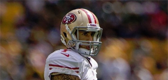 Colin Kaepernick's birthday is in November. <em>Image: Wikipedia.</em>