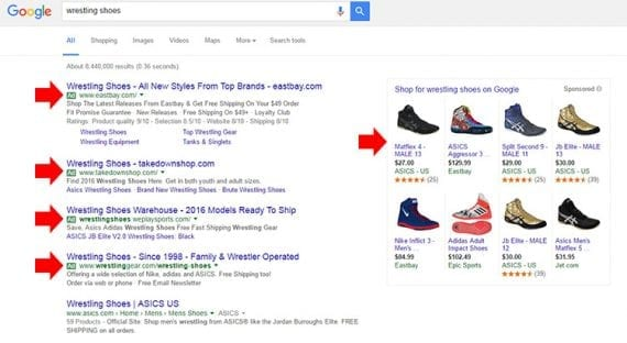 Google AdWords is one of the leading PPC vehicles. Ads appear on search engine results pages, and you only pay when a shopper clicks to your page.