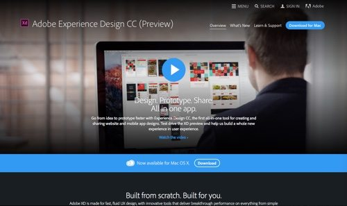 Adobe Experience Design CC.