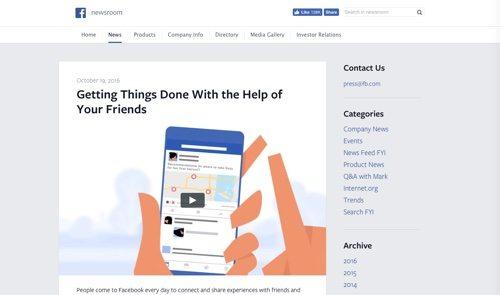 Facebook Newsroom.